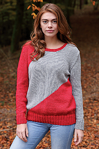 Cascade Yarns featured in magazine: Knitting Magazine Issue 190, Olga (sweater) By Bronagh Miskelly, photo by Knitting Magazine, Pattern in Cascade 220® yarn