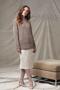 Cascade Yarns featured in magazine:  Vogue Knitting Holiday - #12 Drop Shoulder Pullover By Melissa Dehncke McGill photo by Vogue Knitting, Pattern in Cantata yarn