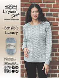 19107d795db6b Ad in Vogue Knitting Fall 2016 Issue. Adrienne W385 by Melissa Leapman. The  pattern uses Cascade Yarns® Eco Cloud