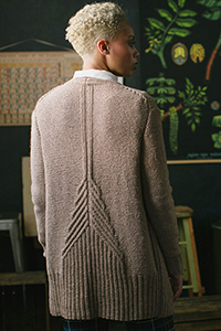 Cascade Yarns featured in magazine: Interweave Knits Winter 2019, Dionaea Muscipula Cardigan By Sloane Rosenthal photo by Harper Point Photography, Pattern in Eco Cloud yarn
