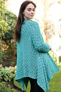 Cascade Yarns featured in magazine: Knitting Magazine Issue 194, Anna (cardigan) By Jacinta Bowie, photo by Knitting Magazine, Pattern in Cantata yarn