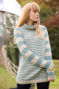 Cascade Yarns featured in magazine: Knitting Magazine Issue 189, Massachusetts (Sweater) By Sian Brown Knitwear Design, photo by Knitting Magazine, Pattern in 220 Superwash® Aran yarn