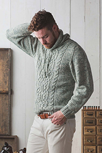 Cascade Yarns featured in magazine: Interweave Knits Spring 2019, Sunchokes Pullover By Moira Engel, photo by Harper Point Photography, Pattern in Eco+ Peruvian Tones yarn