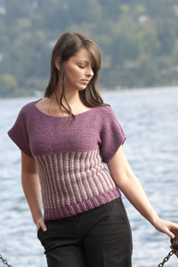 Cascade Yarns®  Free 220 Superwash®  pattern A141 Slip Stitch Sleeved Top
