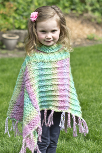 Cascade Yarns - Free Swaddle and Swaddle Solids pattern B213 Fun Times Poncho