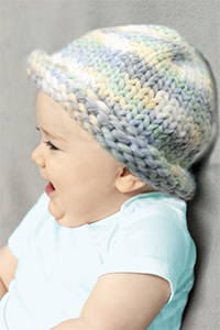Cascade Yarns - Free Swaddle and Swaddle Solids pattern B215 Swaddle Baby Hat