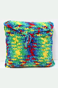 Cascade Yarns Free Pluscious / Pluscious Solids pattern C241 Crocheted Pillow Cover