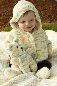 Cascade Yarns Free Pluscious / Pluscious Solids pattern C247 Winter Warmer Baby Set