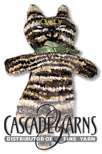 Cascade Yarns Free Pluscious / Pluscious Solids pattern C253 Purr, The Pluscious Kitty toy
