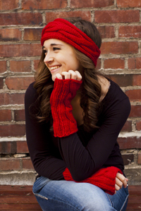 Cascade Yarns | Cherub Chunky Free Pattern C268 Cabled Headband and Mitts