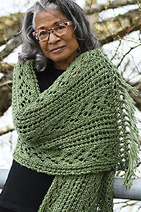 Cascade Yarns | Free Pacific Chunky Pattern C301 Lacy Comfort Prayer Shawl