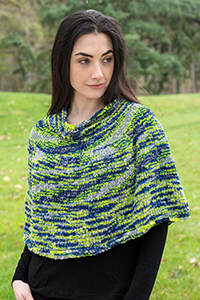 Cascade Yarns Free Pluscious / Pluscious Solids pattern C334 Bottom Up Poncho