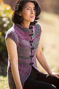 Cascade Yarns | Free Pacific Chunky Color Wave C341 Kimono Coat