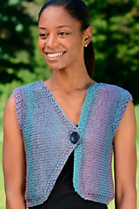 Cascade Yarns | Free Pacific Chunky Color Wave C357 Sideways Asymmetrical Vest