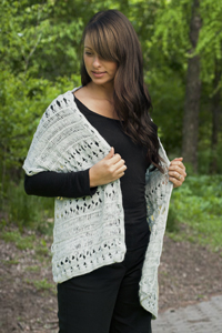 Cascade Yarns free knitting  pattern DK163 Hair Pin and Broomsticks Wrap