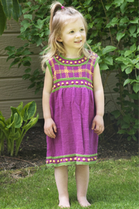 Cascade Yarns® Free 220 Superwash® Sport and 220 Superwash®  Pattern DK210 Girl's Plaid Dress