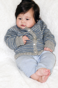 Cascade Yarns® Free 220 Superwash® Sport and 220 Superwash®  Pattern DK268 Baby Sweater