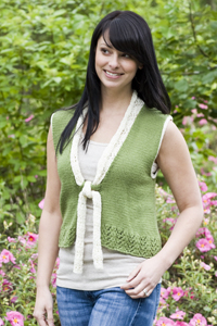 Cascade Yarns® Free 220 Superwash® Sport and 220 Superwash®  Pattern DK277 Heritage Silk Earrach Vest
