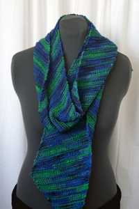 Cascade Yarns® Free 220 Superwash® Sport and 220 Superwash®  Pattern DK315 Multi-Color Bias Scarf