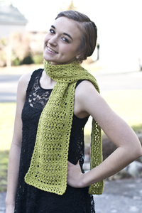 Cascade Yarns® Free Anchor Bay Pattern | DK388 Moss Lace Scarf