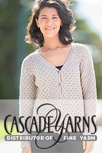 Cascade Yarns® Free Anchor Bay Pattern | DK389 Lace Cardigan