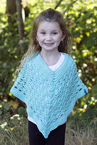 Cascade Yarns® Free Anchor Bay Pattern | DK406 Sea Glass Poncho