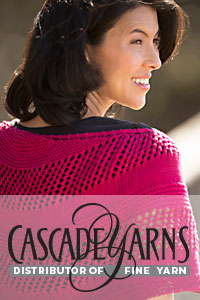 Cascade Yarns free Noble Cotton Pattern DKDK602 Noble Crescent Shawl