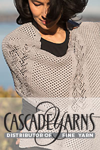 Cascade Yarns free Noble Cotton Pattern DK611 Blossoming Branches Shawl