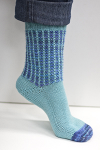 Cascade Yarns Heritage and Heritage Paints Free Pattern FW103 Em Dash Socks