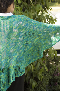 Cascade Yarns Heritage Paints Free Pattern FW107 Flying Geese Shawl