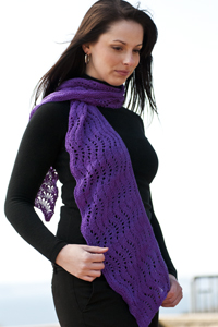 Cascade Yarns Heritage Free Pattern FW109 Feather, Feather and Fan Shawlette