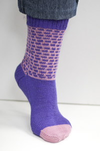 Cascade Yarns Heritage Free Pattern FW117 Pink Purple Sock