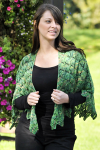 Cascade Yarns Heritage Paints Free Pattern FW118 Triple Triangle Cape