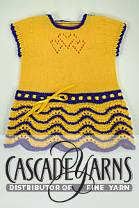 Cascade Yarns Heritage Free Pattern FW238 Herats Knit Together Baby Dress