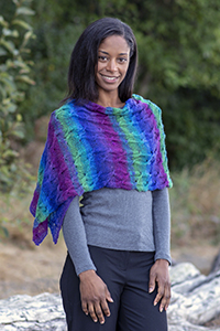 Cascade Yarns - Melilla Fingering yarn free pattern FW260 Tropical Twirl Wrap