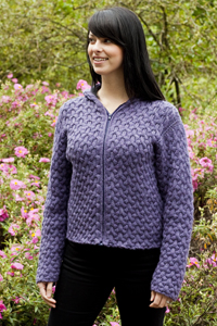 Cascade Yarns - Cascade 220® and Cascade 220® Heather Free Pattern - W227 Cabled Hoodie