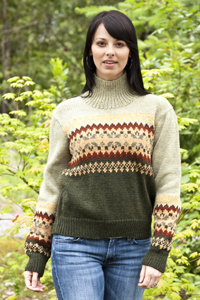 Cascade Yarns - Cascade 220® and Cascade 220® Heather Free Pattern - W231 Colorblock Fair Isle Pullover