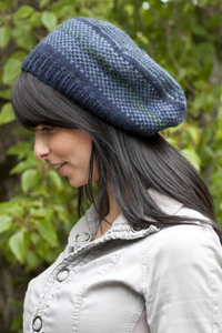Cascade Yarns®  Free 220 Superwash®  pattern W244 Stripes and Checks Tam (hat)