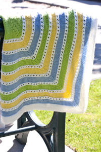 Cascade Yarns®  Free 220 Superwash®  pattern W263 Inside Out Baby Blanket