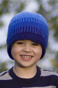 Cascade Yarns®  Free 220 Superwash®  pattern Blue Gradation Hat