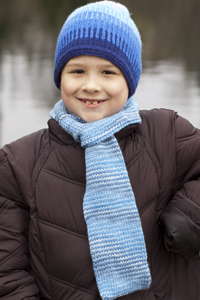 Cascade Yarns®  Free 220 Superwash®  pattern W280 Boys Slip-Through Scarf
