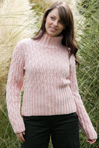 Cascade Yarns - Cascade 220® and Cascade 220® Heather Free Pattern - W288 Cabled Heather for Her Pullover Sweater