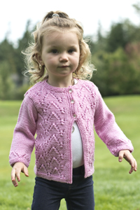Cascade Yarns®  Free 220 Superwash®  pattern W292 Arches Baby Cardigan