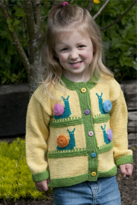 Cascade Yarns®  Free 220 Superwash®  pattern W293 Snail Mail Kid's Cardigan