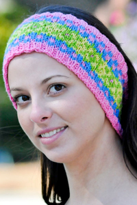 Cascade Yarns®  Free 220 Superwash®  pattern W296 Fair Isle Headband