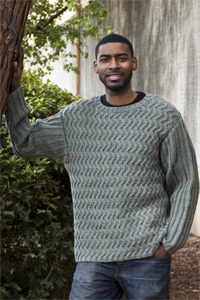 42c6b230fb41c Knitted Sweater Patterns For Men. 128 Superwash® Celtic Cables for Him