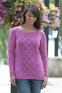 Cascade Yarns®  Free 220 Superwash®  pattern W405 Winter Rose Sweater
