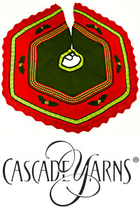 Cascade Yarns®  Free 220 Superwash®  pattern W499 Christmas Tree Skirt