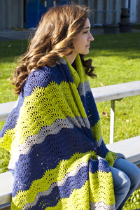 Cascade Yarns®  Free 220 Superwash®  pattern W552 Spirit Wave Stadium Blanket