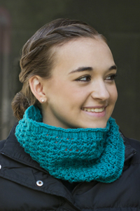 Cascade Yarns®  Free 220 Superwash®  pattern W596 Ric Rac Cowl